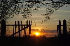 Zachody słońca, chmury, księżyc