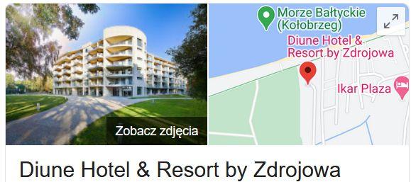 Diune Hotel & Resort by Zdrojowa w Kołobrzegu